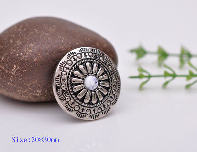 10pcs 30×30MM White Navajo Sewing Closures Leathercraft Conchos Shank Button