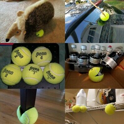 10 Used/Dead Tennis Balls Dog Toys Fetch Catch Walkers Garage Corner Safety