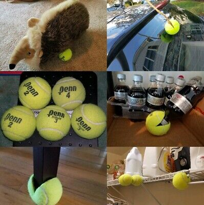 5 Dead Used Tennis Balls Dog Toys Fetch Catch Walkers Garage Corner Safety