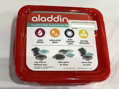 Aladdin 350ml Red Insulated Kids Sandwich Kit