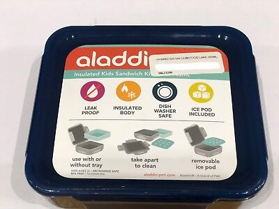 Aladdin 350ml Blue Insulated Kids Sandwich Kit
