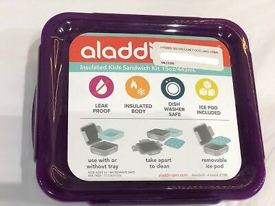 Aladdin 350ml Purple Insulated Kids Sandwich Kit