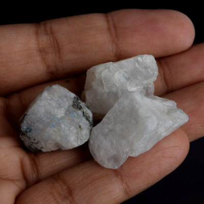 105.00 Ct. Natural White Rainbow Calcite Crystal Rough Loose Gemstone V-5667