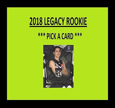 2018 Select Legacy Draft Rookie Cards **pick Your Card** Afl Rising Star 2017