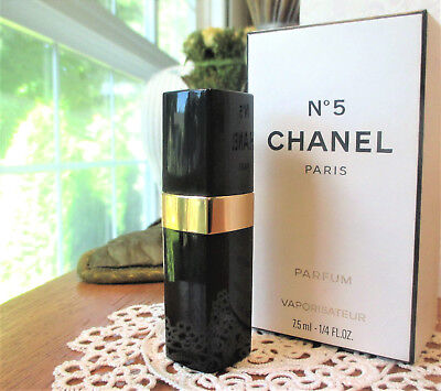 5390cf806a33 80 S VINTAGE CHANEL No.5 Parfum Pure Perfume Purse Spray 1 4oz-7.5ml ...