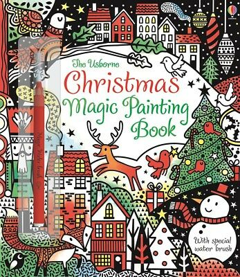 USBORNE Christmas Magic Painting Paint with Water Colouring BOOK