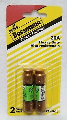 Cooper Bussmann 2-Pack 20-Amp Time Delay Cartridge Fuse, Fast Ship