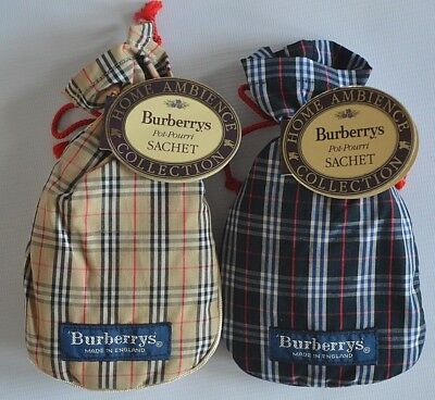 Burberry Home Ambience Collection New Vintage Potpourri Sachet - Made In England