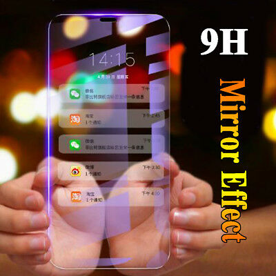 Mirror Plating FullCover Temper Glass Screen Film Protector for iPhone XR XS Max