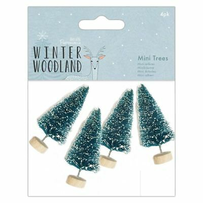 Winter Woodland Papermania Christmas Collection - Snow Tipped Mini Trees (4pk)