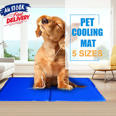 5 Sizes Large XXL Cool Cooling Summer Bed Gel Mat Non-Toxic Dog Cat Bed Pad