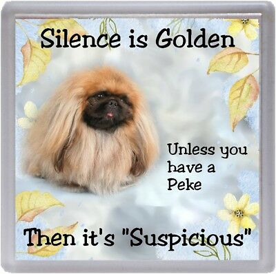 """Italian Spinone Dog Coaster /""""Silence is Golden Unless you  ..../"""" by Starprint"""