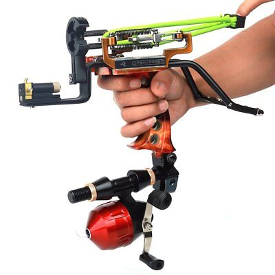 Powerful Hunting Fishing Wrist Sling shot Laser Catapult Archery Bow Arrow Rest