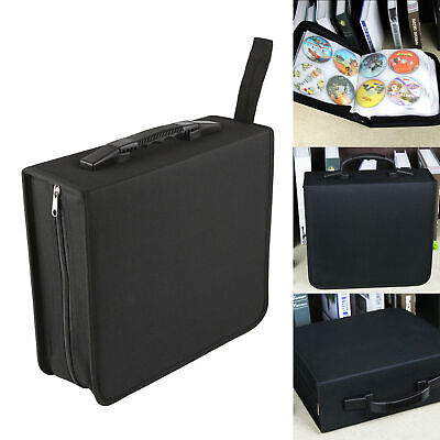 BLACK CD DVD 320 Disc Disk Case Sleeve Wallet Holder Storage Portable Bag Binder