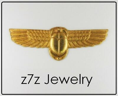 """WINGED SCARAB Pin - 2"""" amulet emblem brooch egypt ancient aliens jewelry z7qq"""