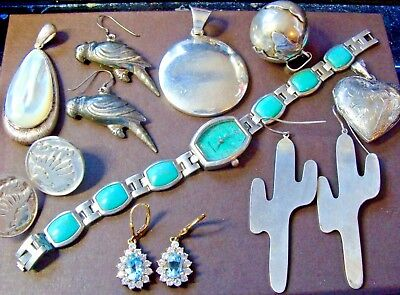 Usable 134 Grams Sterling Silver Estate Jewelry Scrap Or Not