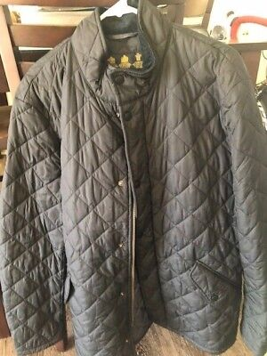 Barbour Mens Quilted Jacket XL Blue