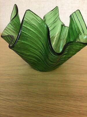 Collectible Green Chance Cotswold Handkerchief Vase