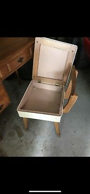 Vintage Singer sewing machine with chair