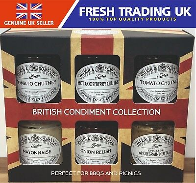 Wilkin & Sons British Condiment Collection - 6 Flavours of Chutneys- Dated 09/19