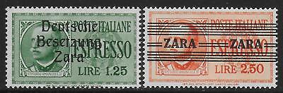German Occupation ZARA stamps 1943 MI 21-22 signed ZiererBPP MNH VF
