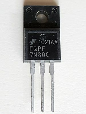On Semiconductor Fqpf7n80c N-Kanal Mosfet 6.6 A 800 V Qfet 3-polig To-220f