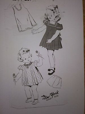 Antique Sewing Pattern- Girls Dress- 1930's-#1914