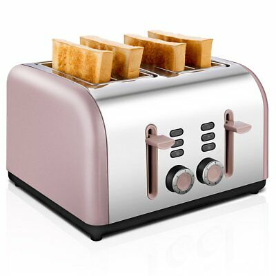 4-Slice Toaster, CUSIBOX Stainless Steel Toaster 4 Wide Slots with 7 Bread