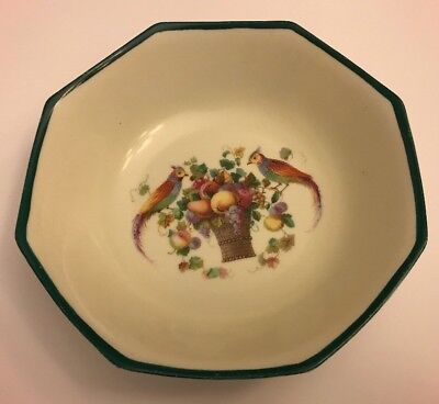 """Vintage Erphila Germany 9"""" Serving Bowl With Fruit and Birds"""