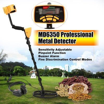 MD6350 Underground Metal Detector Handheld Treasure Hunting Gold Finder SH