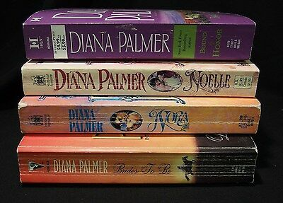 Lot of 4, Diana Palmer Romance, Nora & Noelle & Brides to Be & Bound by Honor