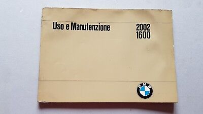 BMW 1600 2002 1969 manuale uso originale genuine owner's manual