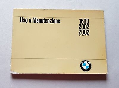 BMW 1600 2002 2002 AUTOMATIC 1970 manuale uso originale genuine owner's manual