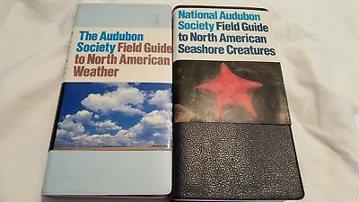 2 books Audubon Society Field Guide to N. American Seashore Creatures & Weather