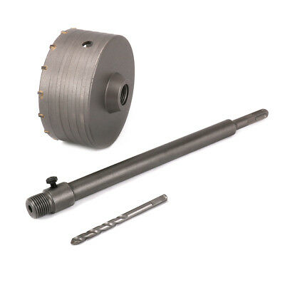 """5"""" Hole Saw Core Drill Bit With 350mm Flat Shank Kit For Cement Bricks Wall"""
