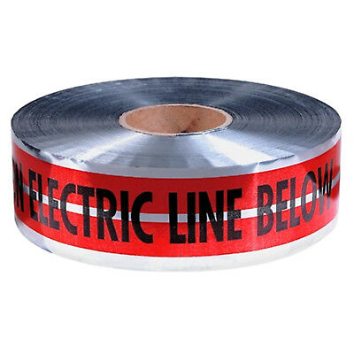 """Red Detectable Warning Tape """"Caution Electric Line Below"""" 3"""" x 1000' 31-107"""