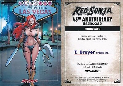 2018 Dynamite Red Sonja 45Th Anniversary Trading Cards Bonus Promo Card