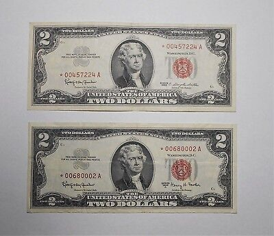 1963A $2 star and 1963 $2 star 👍