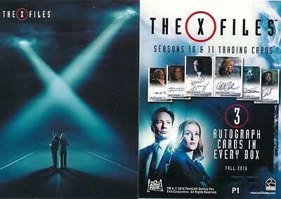 2018 Rittenhouse The X-Files Seasons 10 & 11 Promo Card #p1 (Lot Of 2)