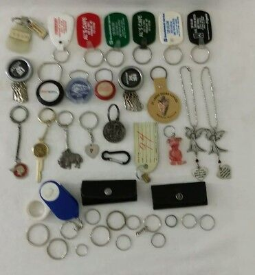 Vintage Lot of 26 Plus Advertising Novelty Keychain Key Ring Car