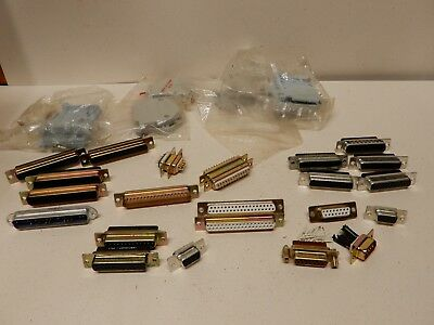 Huge Lot of New and Used D Sub Connectors All Sizes Some Male Some Female
