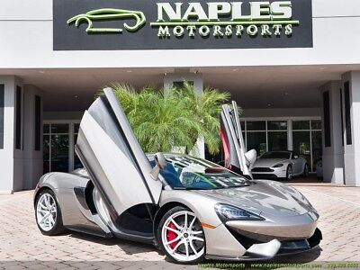 2017 McLaren 570 S Blade Silver Jet Black Nappa Leather Apex Red Inserts Luxury Pkg Lots of Carbon