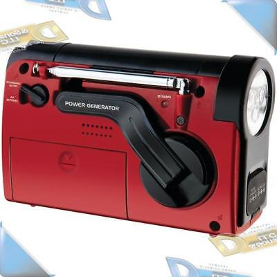 NEW WEATHERX Dynamo Emergency Hand-crank AM/FM Weather Radio w/NOAA/Flashlight