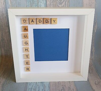 Daddy Daughter Handmade Scrabble Art Photo Frame Christmas Gift For Dad Baby