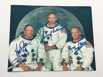 Reprint Neil Armstrong, Michael Collins & Buzz Aldrin Signed 8x10 Photo