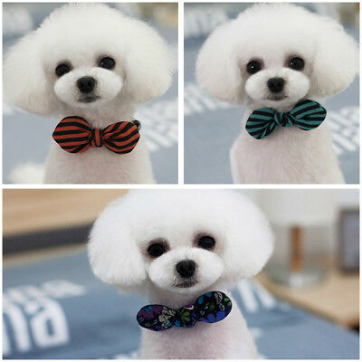 Cute Dog Cat Bow Tie Adjustable Grooming Necktie Collar Lovely Neck Accessory