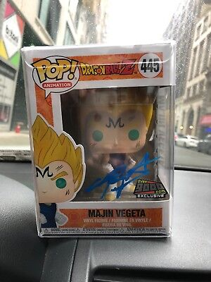 Funko Pop! Majin Vegeta NYCC 2018 Exclusive SIGNED Over9000.com Dragonball Z