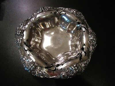 Large Round Pierced Vegetable Bowl Wallace Silverplate Silver Plate