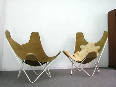 50s BUTTERFLY CHAIR JORGE FERRARI-HARDOY Wildleder Knoll International 50er 1v.2