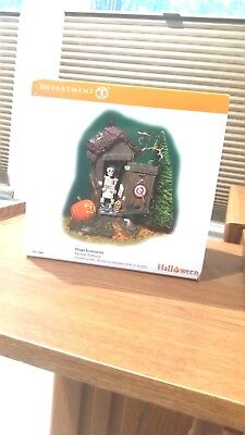 """Dept. 56 Halloween Accessory """"haunted Outhouse"""""""